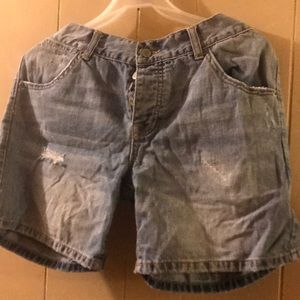 London Jean distressed shorts